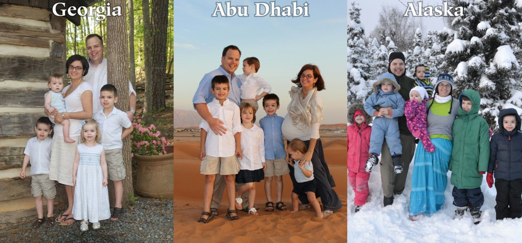 Stroud family in Georgia, USA; Abu Dhabi, UAE; and Alaska, USA. | Starry-Eyed Pragmatist