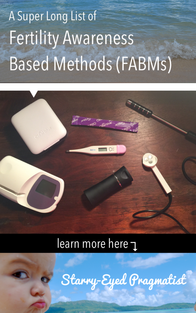 A Super Long List of Fertility Awareness Based Methods (FABMs) | Starry-Eyed Pragmatist