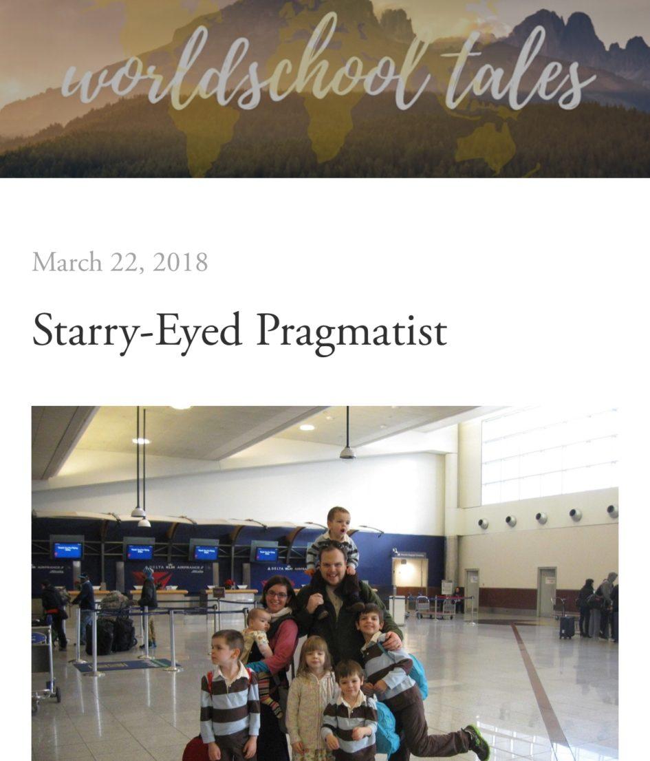 Starry-Eyed Pragmatist Worldschool Tales interview on Haphazardly Homegrown
