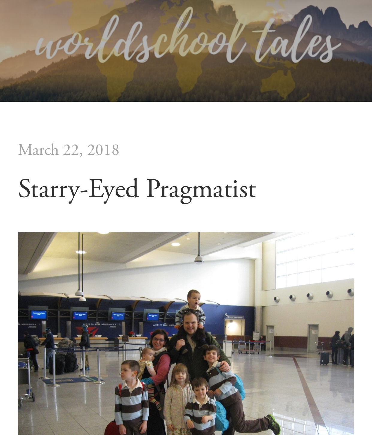 Starry-Eyed Pragmatist Worldschool Tales interview on Haphazardly Homegrown